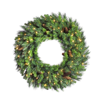 "Cheyenne Pine Wreath LED 24"""
