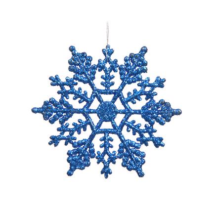"Large Christmas Snowflake Ornament 6.25"" Set of 12 Blue"