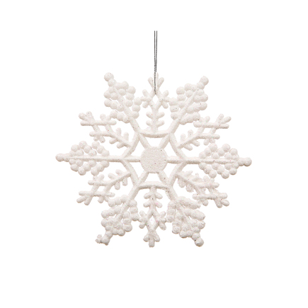 "Extra Large Christmas Snowflake Ornament 8"" Set of 12 White"