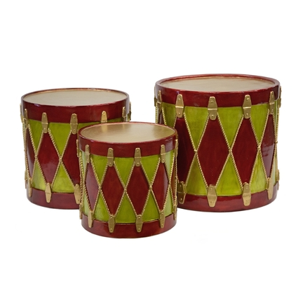"Christmas Drum 20"" Red/Green/Gold"