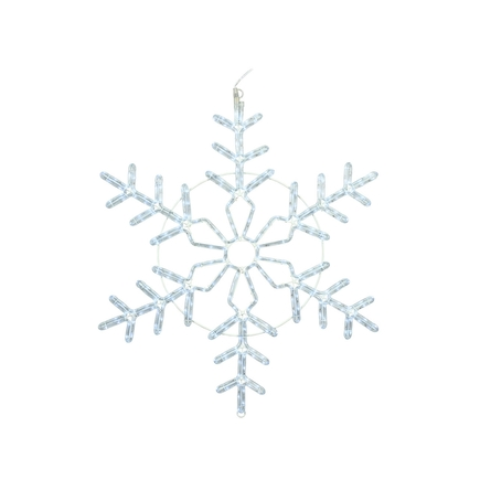 "LED Ropelight Christmas Snowflake 36"""
