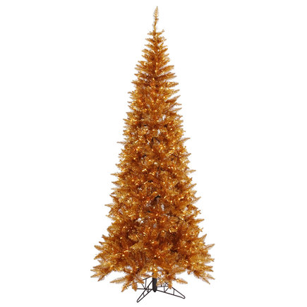 9' Copper Fir Slim w/ LED Lights