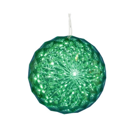 LED Crystal Ball Green 6""