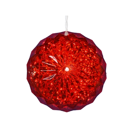 """LED Crystal Ball Red 6"""""""