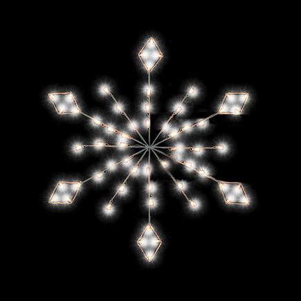 Diamond Snowflake Pole Mount 4'