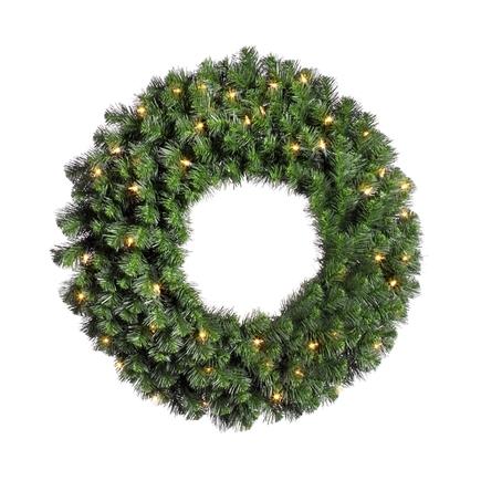"""Douglas Fir Wreath LED 24"""""""