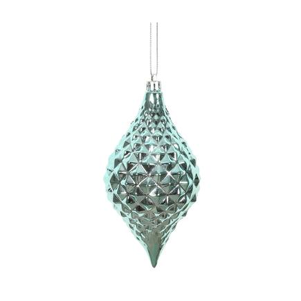 """Elvis Diamond Cut Ornament 6"""" Set of 4 Ice Blue"""