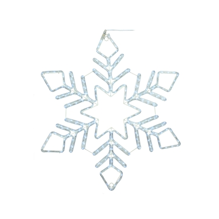 "LED Ropelight Fancy Snowflake 36"""
