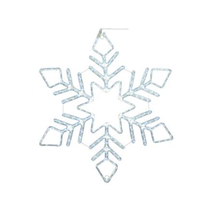 "LED Ropelight Fancy Snowflake 48"""
