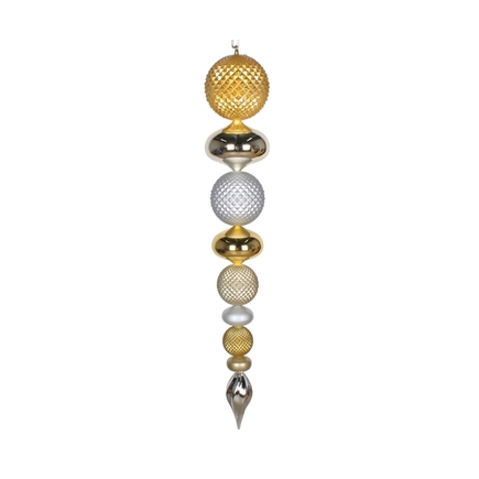 "Fiona Finial 45"" Gold/Champagne/Silver"