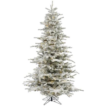 7.5' Flocked Sierra Full Warm White LED
