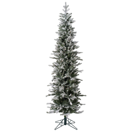 8' Frosted Kingston Fir Warm White LED