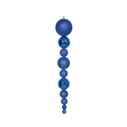 """Yule Finial 44"""" Blue"""