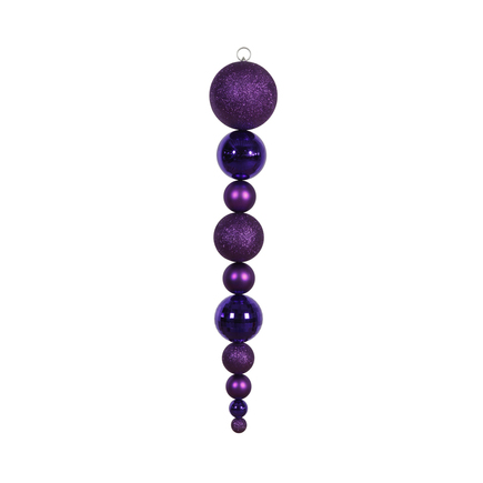 "Yule Finial 44"" Purple"