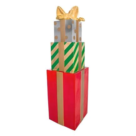"""Christmas Gift Box Tower 67"""" Green"""