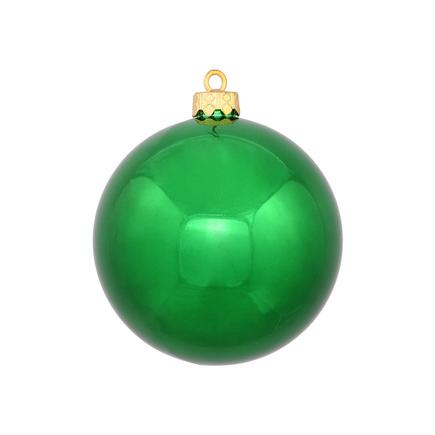 "Green Ball Ornaments 3"" Shiny Set of 12"