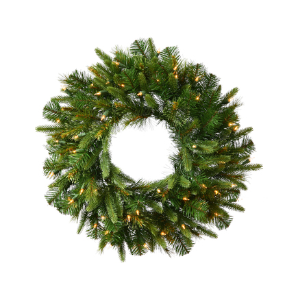 Green River Pine Wreath LED 24""