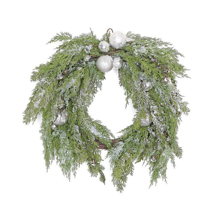 Holiday Shimmer Wreath 24""