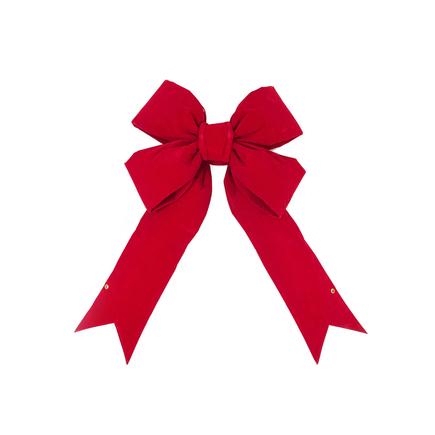 """Indoor Red Velvet Bow 48"""" x 60"""""""