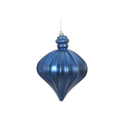 "Isabel Onion Ornament 6"" Set of 4 Blue"