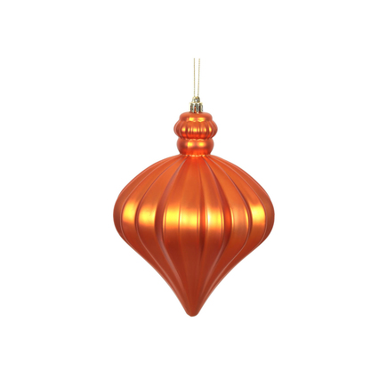"Isabel Onion Ornament 6"" Set of 4 Burnished Orange"