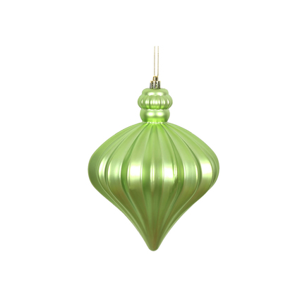 "Isabel Onion Ornament 6"" Set of 4 Celadon"