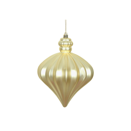 "Isabel Onion Ornament 6"" Set of 4 Champagne"