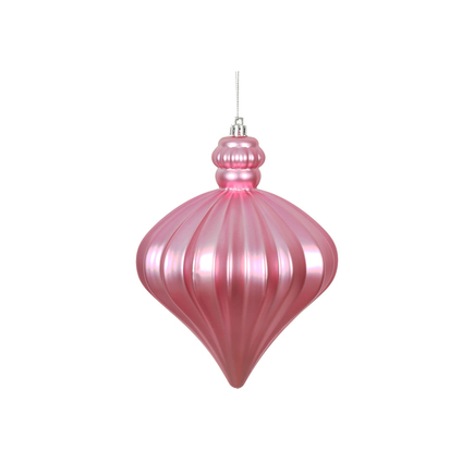 "Isabel Onion Ornament 6"" Set of 4 Pink"
