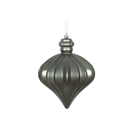 "Isabel Onion Ornament 6"" Set of 4 Pewter"