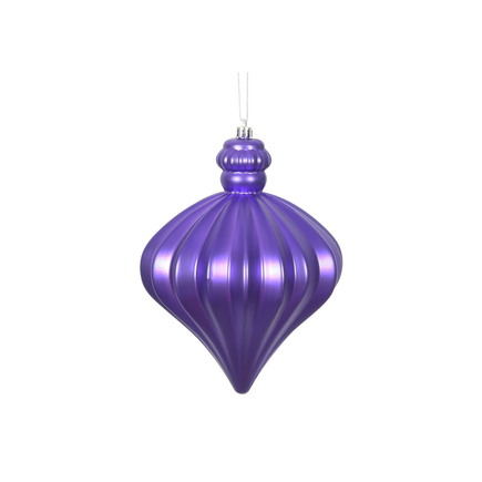 "Isabel Onion Ornament 6"" Set of 4 Purple"