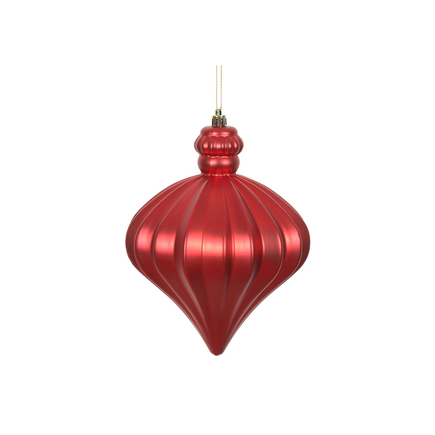 "Isabel Onion Ornament 6"" Set of 4 Red"