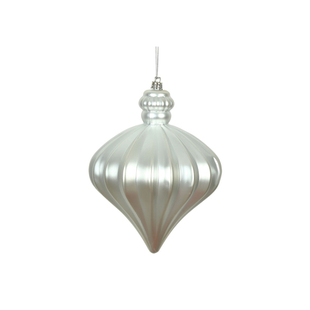 "Isabel Onion Ornament 6"" Set of 4 Silver"