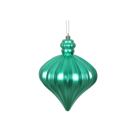"Isabel Onion Ornament 6"" Set of 4 Teal"