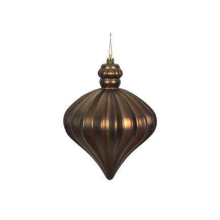 "Isabel Onion Ornament 6"" Set of 4 Truffle"