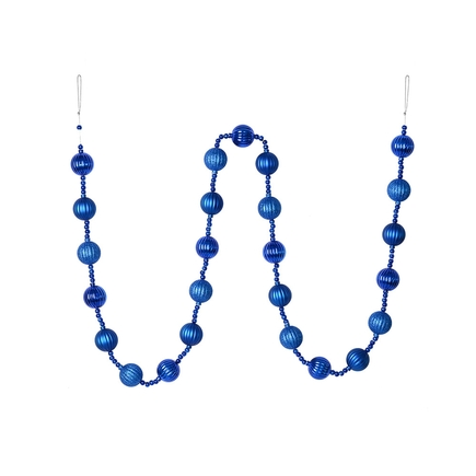 Ivy Ball Garland 6' Blue