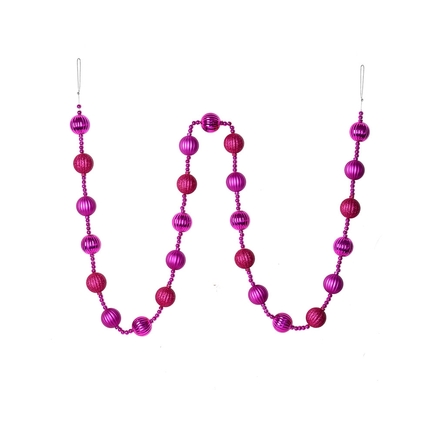 Ivy Ball Garland 6' Fuchsia