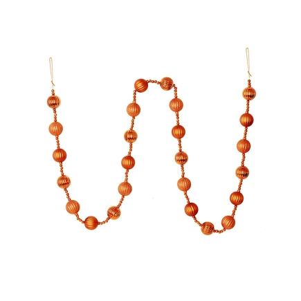 Ivy Ball Garland 6' Orange