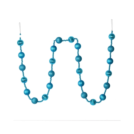 Ivy Ball Garland 6' Turquoise