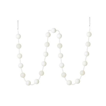 Ivy Ball Garland 6' White