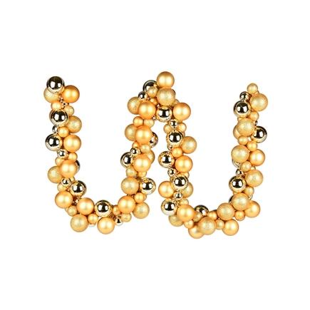 Jolie Ball Garland 6' Gold