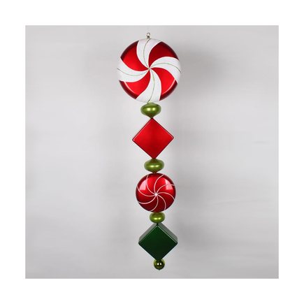 "Peppermint Drop Ornament 45"" Red/Green"