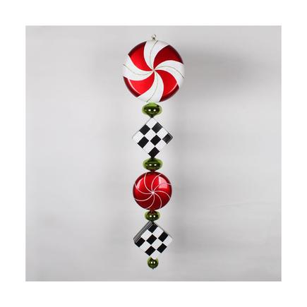 "Peppermint Drop Ornament 45"" Checker"