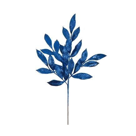 "Sparkly Bay Leaf Spray 22"" Set of 12 Blue"