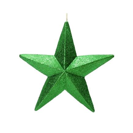 """Spirit Outdoor Glitter Star 23"""" Green"""