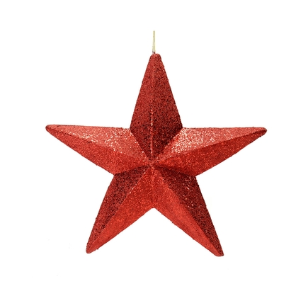 "Spirit Outdoor Glitter Star 23"" Burgundy"