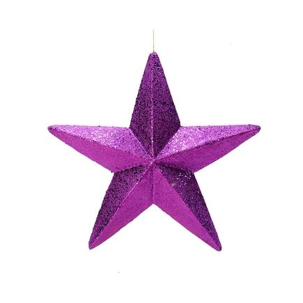 """Spirit Outdoor Glitter Star 23"""" Purple"""
