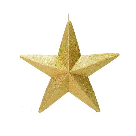 "Spirit Outdoor Glitter Star 23"" Gold"