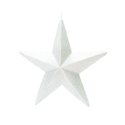 "Spirit Outdoor Glitter Star 23"" White"