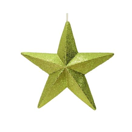 """Spirit Outdoor Glitter Star 23"""" Lime"""