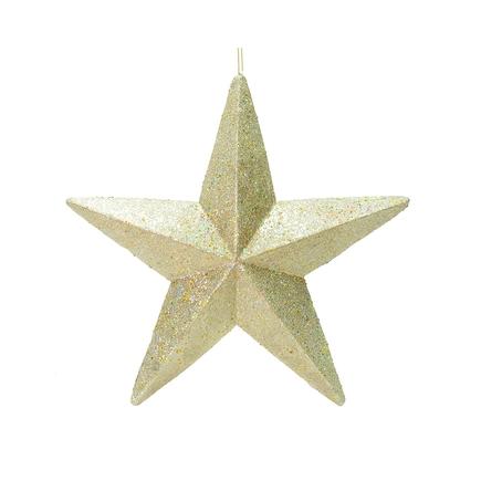 """Spirit Outdoor Glitter Star 23"""" Champagne"""